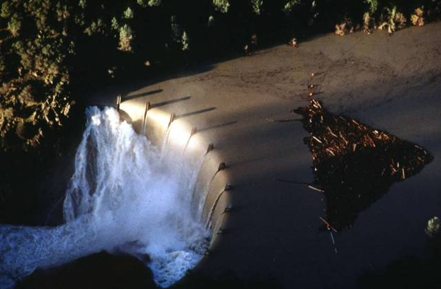 Englebright Spillway during the 1997 flood