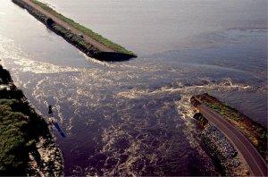 Jones Tract levee break, 2004. Source: California Dept. of Water Resources