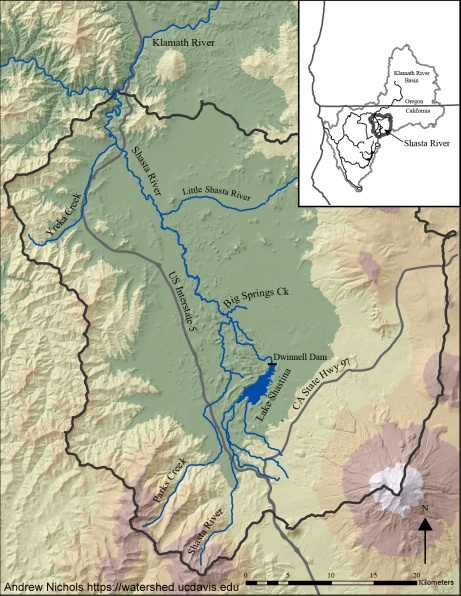 Shasta River watershed. Source: Andrew Nichols, UC Davis