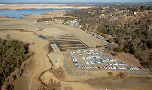 Folsom Reservoir, January 2014. Source: California Department of Water Resources