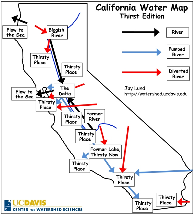 Map Of California Funny.California Water Made Simple California Waterblog