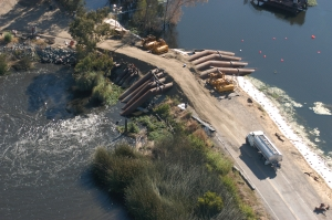 Pumping operatiuons following levee break on Jones Tract, 2004. Source: California Department of Water Resources