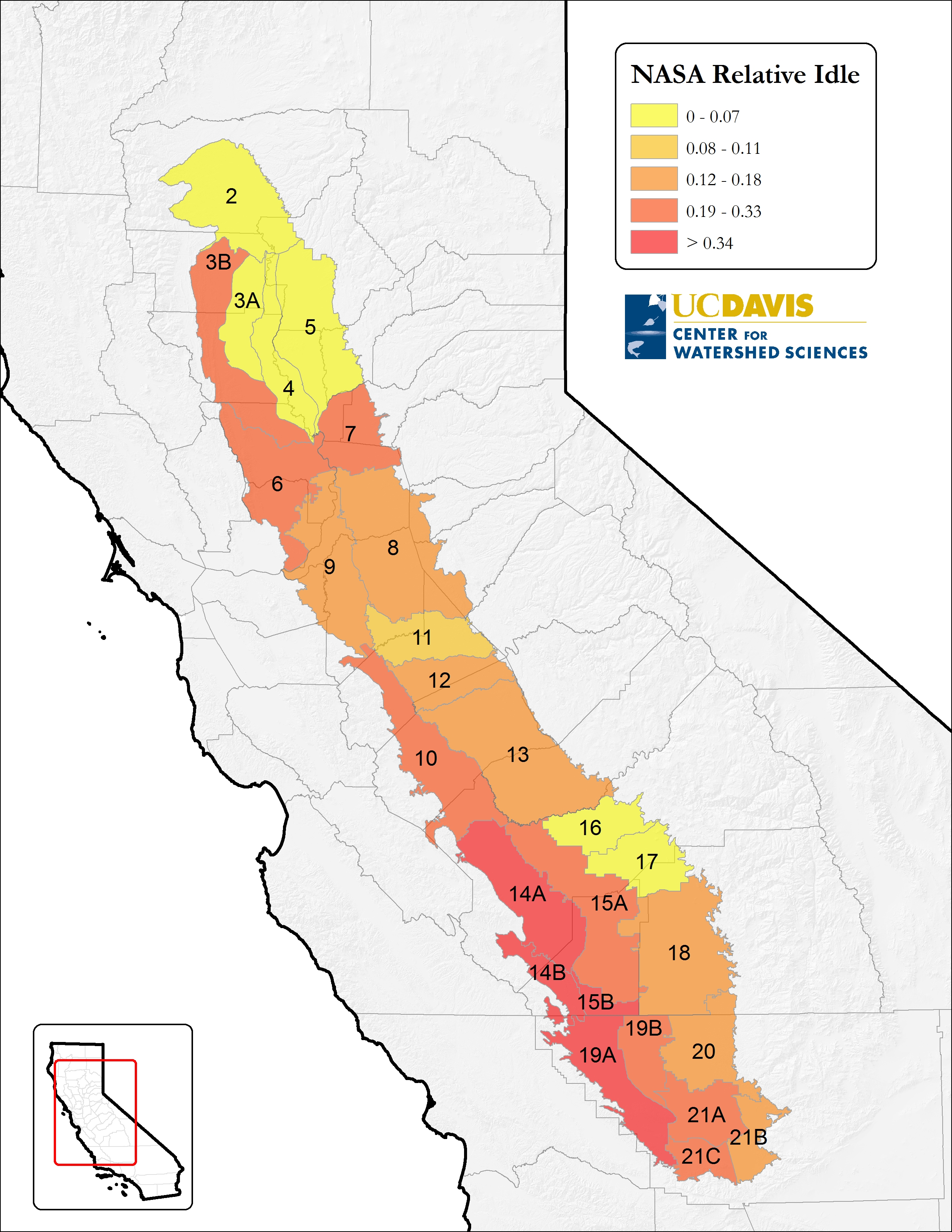 California Waterblog A Biologist Economist Engineer And Simple Engine Diagram Images Pictures Becuo Difference In Idle Central Valley Cropland Between 2014 2011 Relative To The Total Agricultural