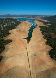 Lake Oroville's Bidwell Marina in September 2014. Photo by Kelly M. Grow/California Department of Water Resources