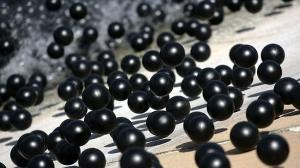 The materials used in each black balls are causing some Bay Area residents to question their net effect on water quality