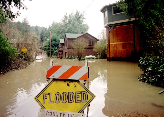 California, 3/98: El Nino storms flood the Russian River. Photo by DAVE GATLEY/FEMA News Photo Mandatory credit (no charge for image use)