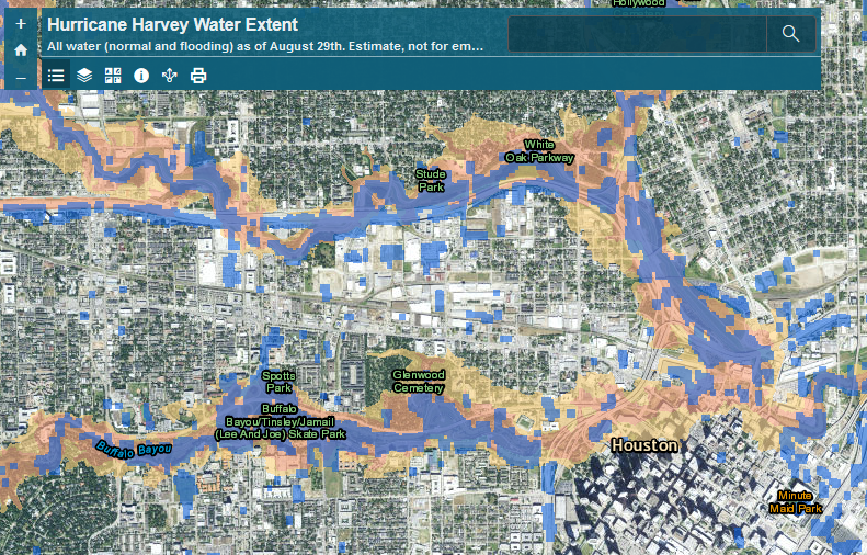 Preliminary Analysis Of Hurricane Harvey Flooding In Harris County - Fema flood maps texas